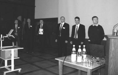 v.l.n.r.: Prof. Dr. Hans-Otto Günther, Herr Gerhard Braun, Prof. Dr. Gerhard Wäscher, Dr. Raik Stolletz, Dr. Stefan Spinler, Dr. Matthias Köppe
